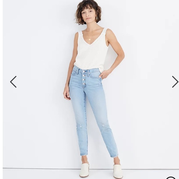 """Madewell 9"""" Mid-Rise Skinny Crop Jeans"""